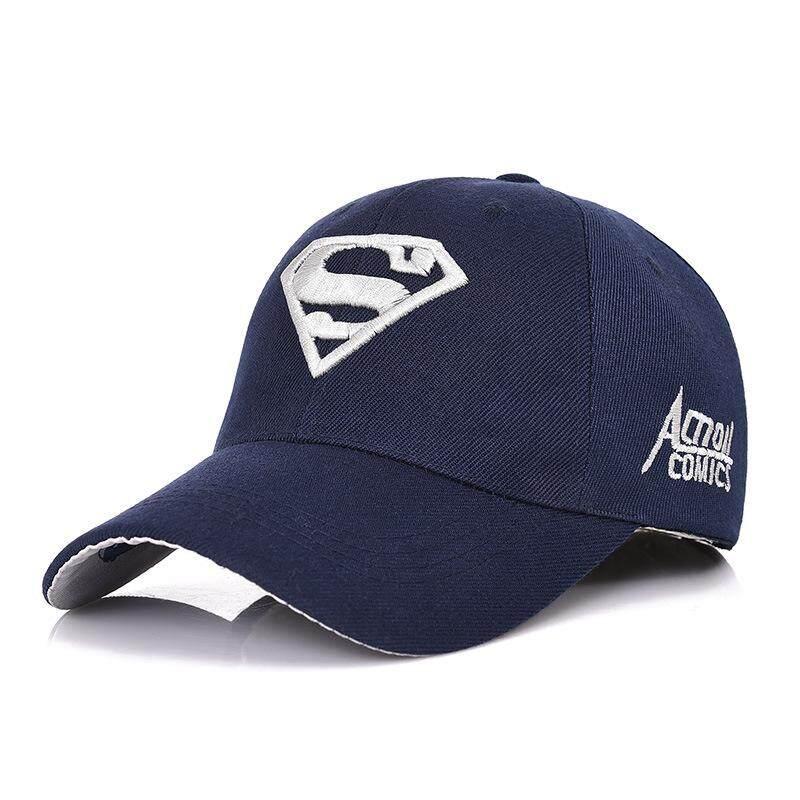 199a0db76e6468 Men's Fashion Superman Baseball Cap Outdoor Sunscreen Cap Wild Leisure  Visor Hat