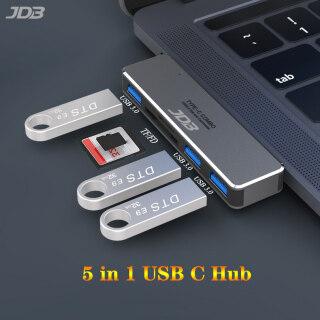 Hub Đa Năng 5 Trong 1 Bằng Hợp Kim Nhôm JDB Với Đầu Đọc Thẻ SD TF Cổng USB 3.1 3 SuperSpeed USB 3.0 Cổng Cho MacBook Air 2018 Và MacBook Pro 2017 2018 2019 2020 2021 Màu Xám thumbnail