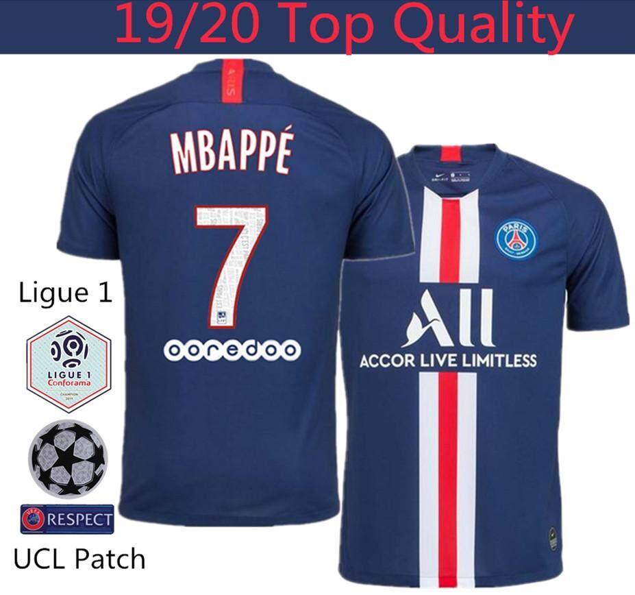 separation shoes 4c7c6 639d0 Top Quality 19/20 Paris Saint-Germain PSG Home Football Jersey Mbappé 7  Cavani 9 Neymar 10