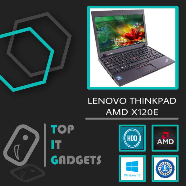 LENOVO THINKPAD X120E - 11.6-INCH AMD-E350 DUAL CORE / 4GB DDR3 / 128GB SSD / AMD GRAPHICS [6 MONTHS WARRANTY] [ LAPTOP ] Malaysia