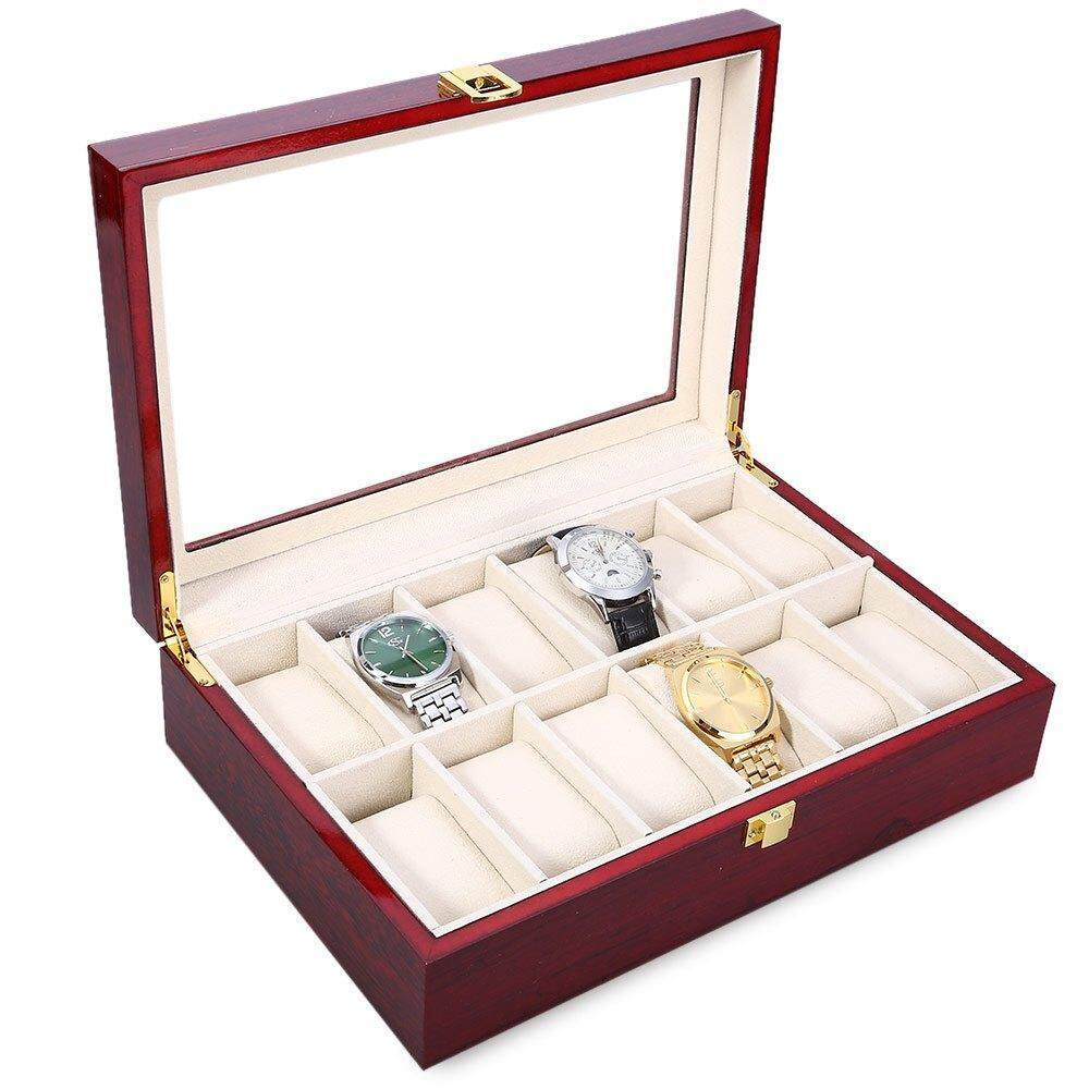 WOODEN WATCH BOX FOR 12 WATCHS Malaysia