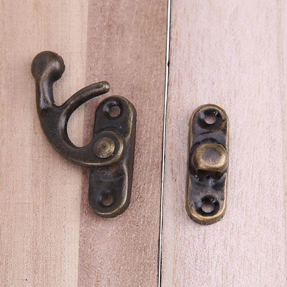 10pcs/Set Vintage Iron Buckle Horn Locks Clasp Hook Jewelry Box Padlocks