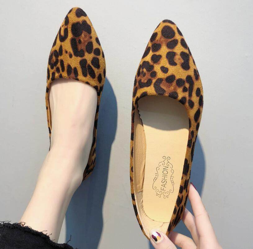 89a44ee1ef9b Sexy Leopard Women Flats Shoes 2019 Fashion Shallow All Match Pointy Toe  Sapato Feminino Zapatos Loafers Shoes n673