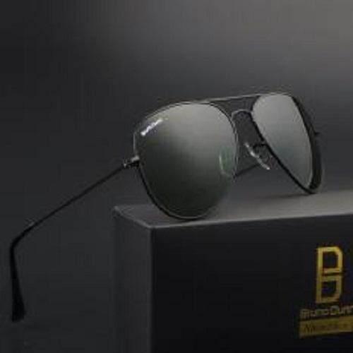 Bruno Dunn Brand top Glass Lens Aviation unisex Men Women Vintage Sun Glasses men Sunglasses 58mm 3025( Black Frame G15 Lens ) Malaysia
