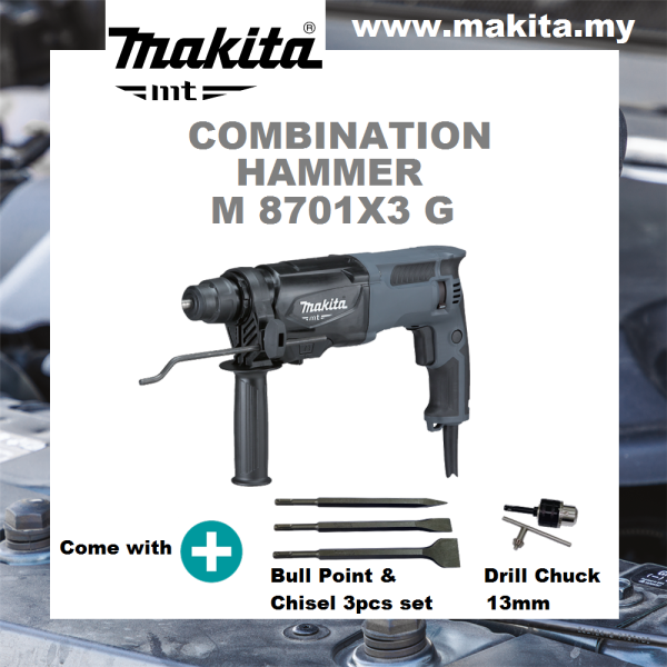 MAKITA Combination Hammer M8701X3G 26MM