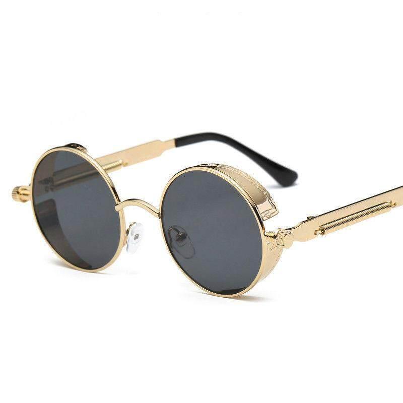 a60806206bee Retro Round Sun Glasses for Women Men Fashion Aviator Sunglasses Vintage  Eyewear