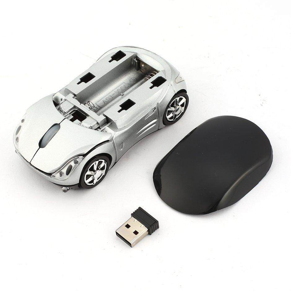 Best Sales Adjustable 1000DPI Wireless Car Optical Gaming Mouse For PC + USB receiver Malaysia
