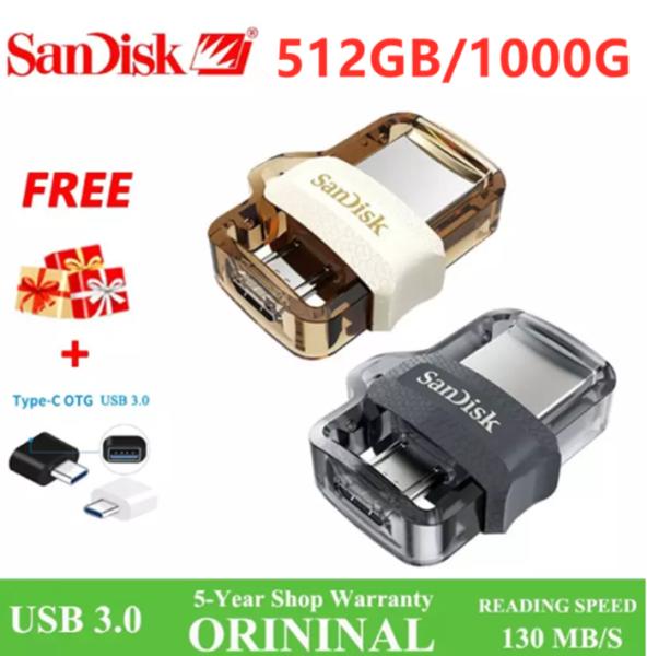 SANDISK Pendrive 512GB 1TB Micro USB 3.0 Usb Flash Drive + Free OTG adapter