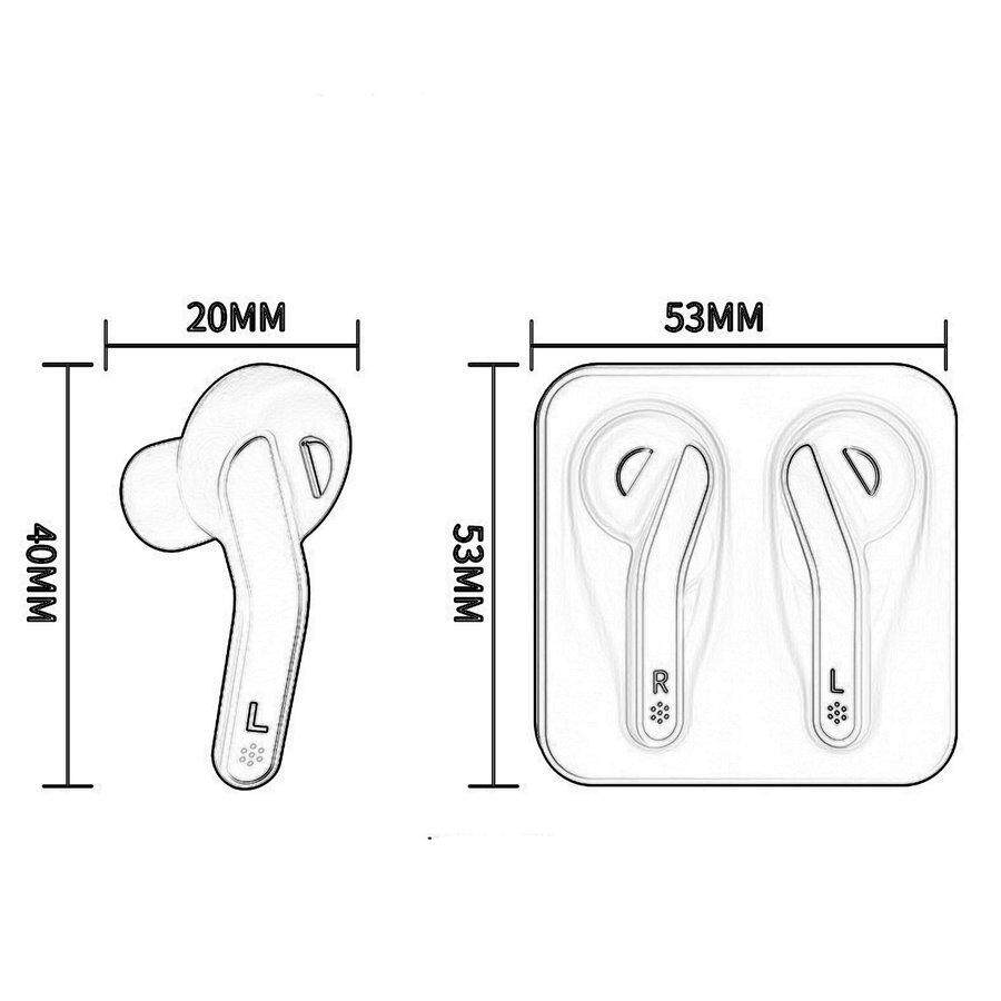 PKPNS T88 w*ireless b*luetooth Earphone With Charging Station b*luetooth 5.0 Earbuds