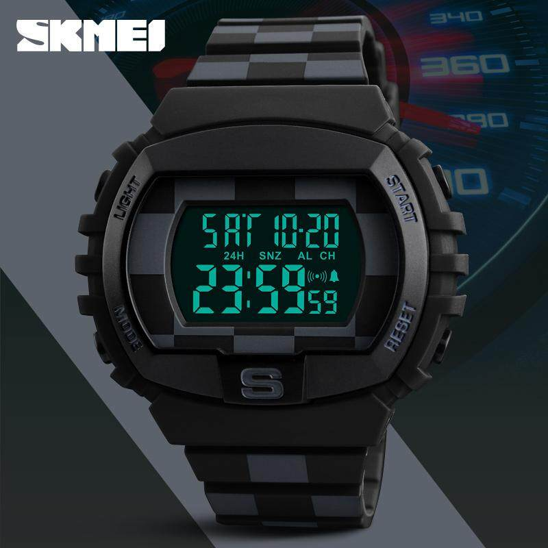SKMEI Brand Men And Women Sport Watch LED Digital Waterproof  Watch Unisex Fashion Casual Electronic Chronograph Watch Malaysia