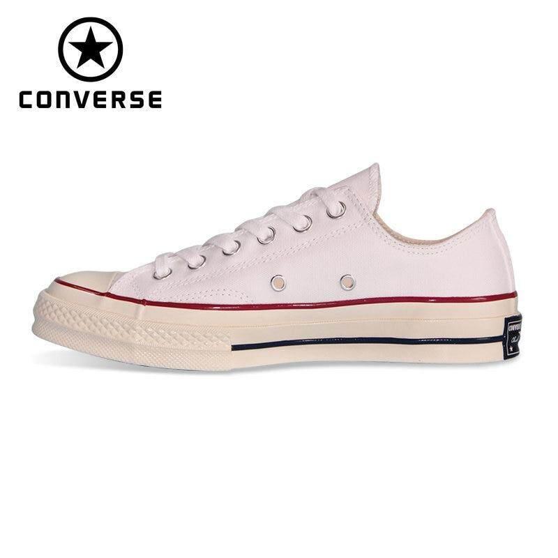 ยี่ห้อไหนดี  ยโสธร NEW Original Converse_1970S all star shoes Retro classic men women unisex sneakers 162065C Skateboarding Shoes