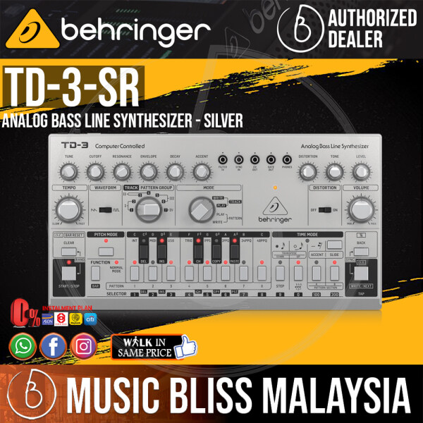 Behringer TD-3-SR Analog Bass Line Synthesizer - Silver (TD-3 / TD3) *Everyday Low Prices Promotion* Malaysia