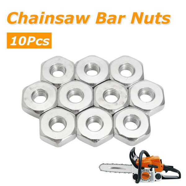 xiaxuannai® 10Pcs Guide Bar Sprocket Cover 8mm Nuts for Stihl Chainsaws Solo Chain Saws
