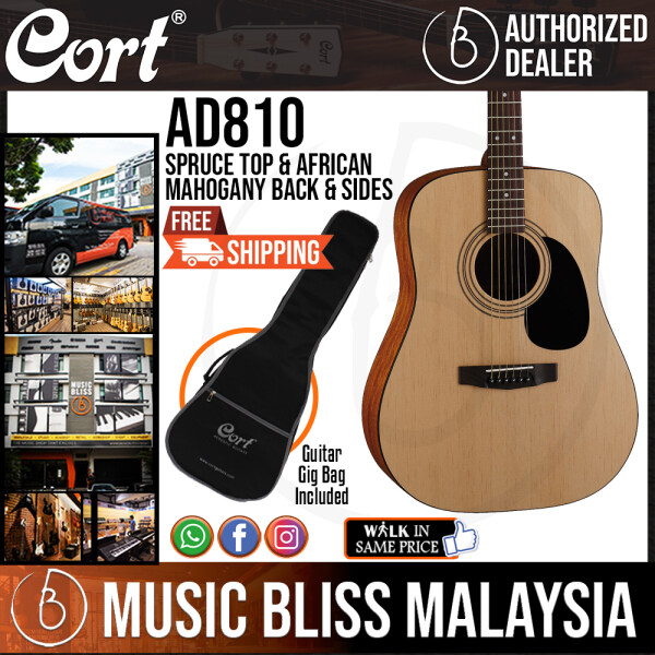 Cort AD810 Acoustic Guitar with Bag (AD 810 AD-810) Malaysia