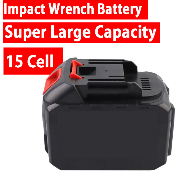 21V Universal Cordless Impact wrench Replacement Battery Large Capacity Battery  Fit for All Imopact Wrench 15 Cell 10 Cell 5 Cell Rechargeable 21V Battery Makita Shape Power Tool Angle Grinder