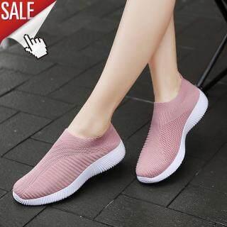 Laochra Giày Cho Nữ Giày Nữ Size Lớn 35-43 Đan Mút Chạy Bộ Nữ Phong Cách Hàn Quốc Lười Cho Mùa Hè giày Đế Bằng Nữ Thể Thao thumbnail