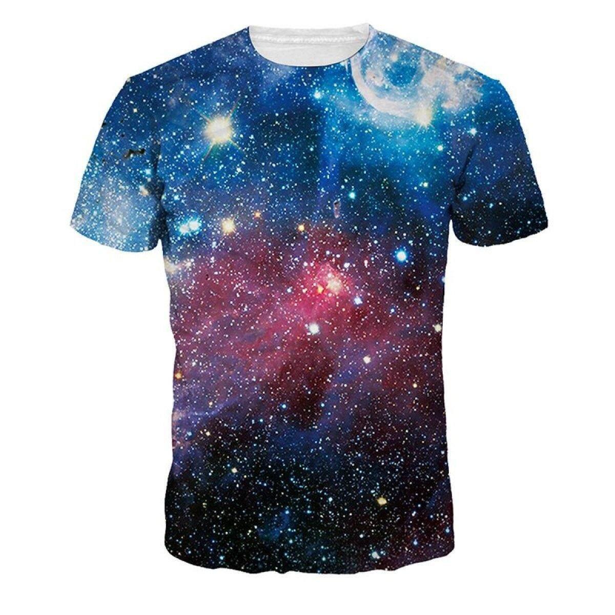 Jiayiqi Sparkly Galaxy Universe T-shirts Pretty 3D Digital Printed Tops