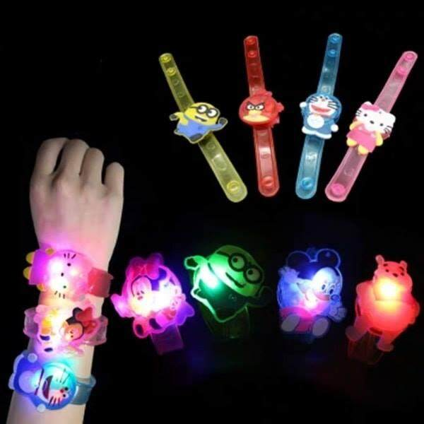 Glowing bracelet cartoon light watch for kids unisex (RANDOM) - 021 Malaysia