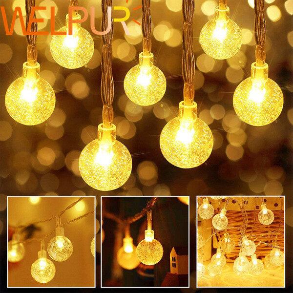 Đèn LED Thần Tiên, Đèn Dây Trang Trí Trong Nhà Ngoài Trời Phích Cắm EU 5M10M20M AC220v Đèn Mùa Trắng Ấm Áp Vòng Hoa Trang Trí Tiệc Sinh Nhật Đám Cưới Giáng Sinh