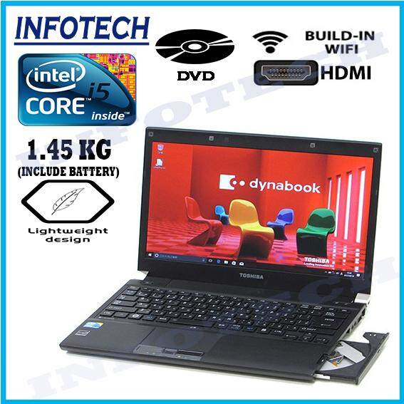 ( Thin,Slim,Light Weight) Toshiba Intel Core I5 2.66ghz Hdmi DVDrom 4GB 250GB Laptop Notebook Netbook ( Refurbished) Malaysia