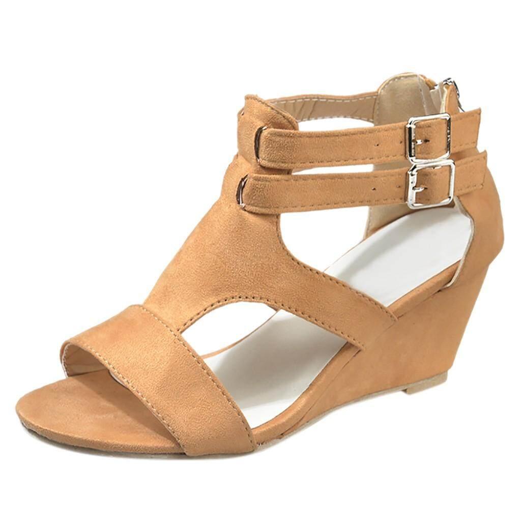 Auburyshop ผู้หญิงรองเท้าแตะฤดูร้อน Retro รองเท้าลำลองสายคล้อง Gladiator โรมัน Sandals【reference Eu ขนาด Chart】 By Auburyshop.