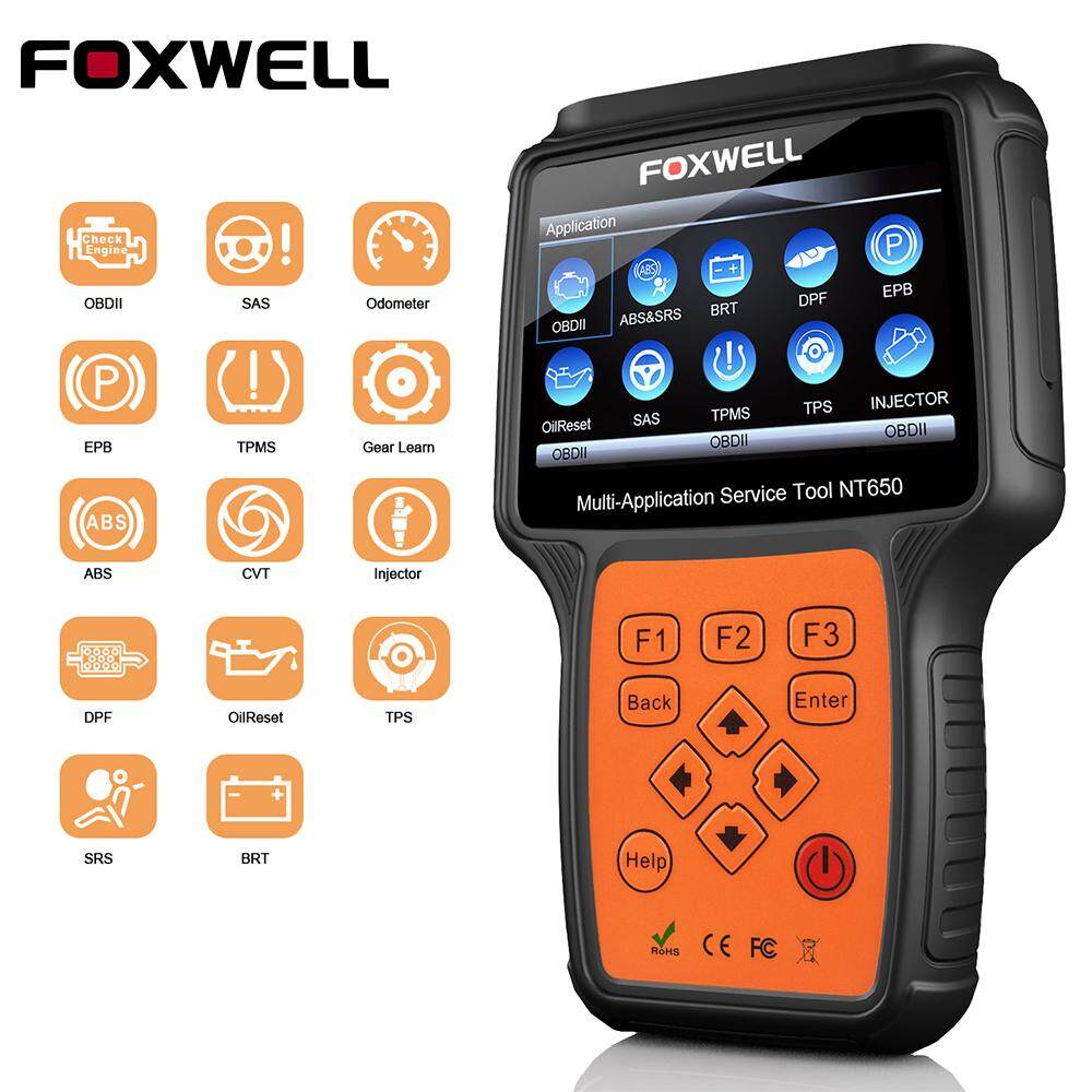 Foxwell Nt650 Obd2 Automotive Scanner Abs Airbag Sas Epb Dpf Oil Service Reset Obd 2 Odb2 Car Diagnostic Tool Auto Obd2 Scanner By Obdspace Store.