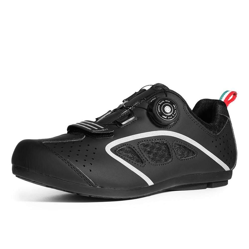 Lock-Free Cycling Shoes Men Road Bike Shoes Unlock Cycling Shoes Rotating Buckle Cycling Sneakers