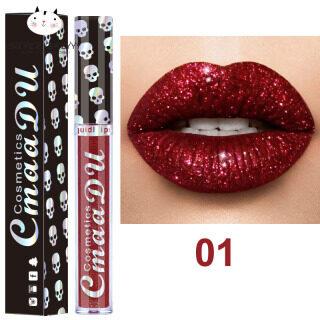 SBY Shining Lip Gloss Halloween Đảng phụ nữ mỹ phẩm Gliter kim Lip Gloss trang điểm son môi lỏng thumbnail