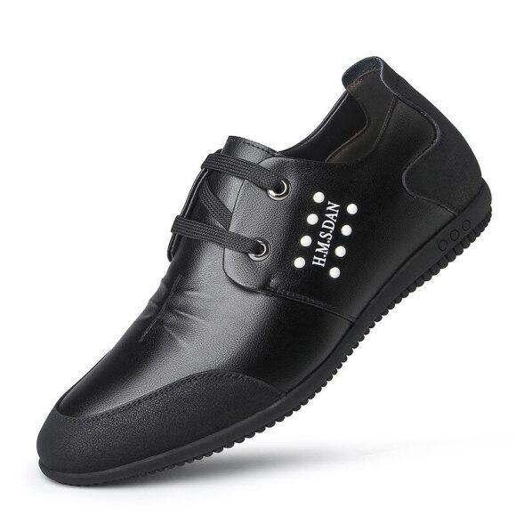 Giày Golf Da Nam, Giày Đế Casual Căn Hộ Sneakers, Thoải Mái Giày Thể Thao Đi Bộ Mềm Nhẹ Thoáng Khí giá rẻ
