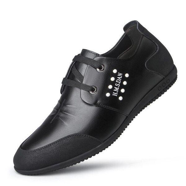 Giày Golf Da Nam, Giày Đế Casual Căn Hộ Sneakers, Thoải Mái Giày Thể Thao Đi Bộ Mềm Nhẹ Thoáng Khí