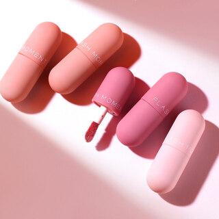 Zhixin 3Pcs Kapsul Mini Lip Glaze Non Stick Cermin Beludru Matte Liquid Lipstik Makeup thumbnail