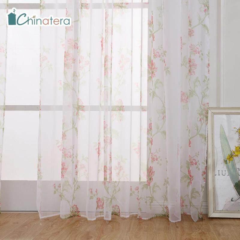 [Chinatera] 100X200 Cm Hoa Thanh Lịch Châu Âu Rèm Cửa Làm Tối In Hoa Phòng Ngủ Phòng Khách Windows Trang Chủ Rèm Trang Trí