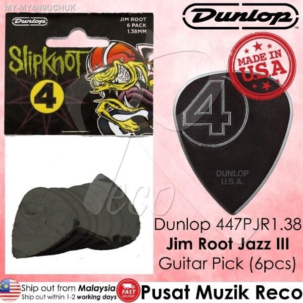 Dunlop 447PJR1.38 Jim Root Signature Guitar Pick 1.38mm (6pcs) Malaysia