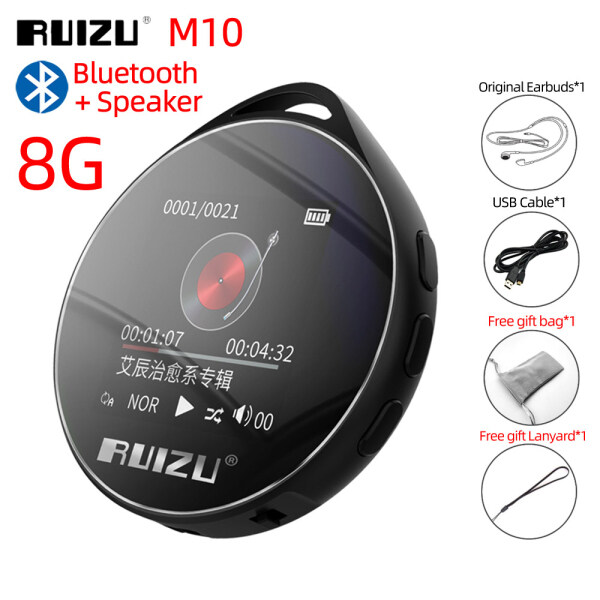 RUIZU M10 Bluetooth 4.0 MP3 MP4 Player 8GB 16GB Portable Audio Walkman With Built in Speaker Support FM Radio EBook Recording MP3 Music Player