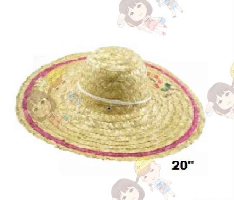 20 Grass Straw Farmer Hat Cap - Topi Rumput Jerami Petani - Topi Kebun - Topi Mengkuang
