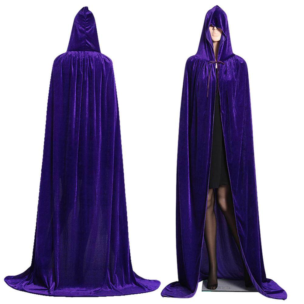 [livejoy ]Hooded Cloak Long Velvet Cape Christmas Halloween Cosplay Costumes