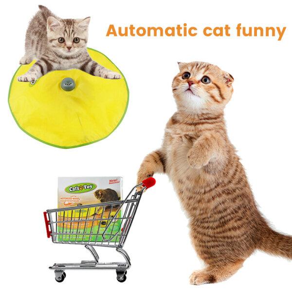 Đĩa trò chơi cho mèo Đồ chơi thú cưng chạy điện Chuột di chuyển tự động tương tác Đồ chơi trêu ghẹo vui nhộn Bàn xoay cho mèo cưng Mèo Con