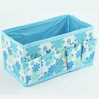 XIAO Túi Đựng Mỹ Phẩm Trang Điểm, Sáng Organiser Có Thể Gập Lại Văn Phòng Phẩm Container Hộp Đựng Dụng Cụ Trang Điểm Màu Xanh, 2021 Khuyến Mãi Mới Phổ Biến thumbnail