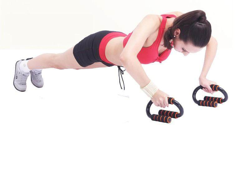 80179faca9b1f S Shape Push Up Stand Bar For Body Muscle Exercise Hand Grip Trainer Tool  9224