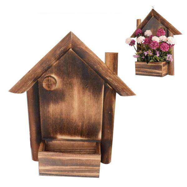 Wall Mount Planter Flower Pot Hanging Wooden Flower Pots Container for Wedding Decoration