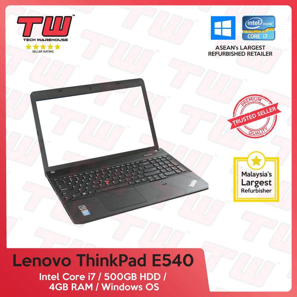 Lenovo ThinkPad E540 Core i7 Gen 4 / 4GB RAM / 500GB HDD / Windows OS Laptop / 3 Months Warranty (Factory Refurbished) Malaysia