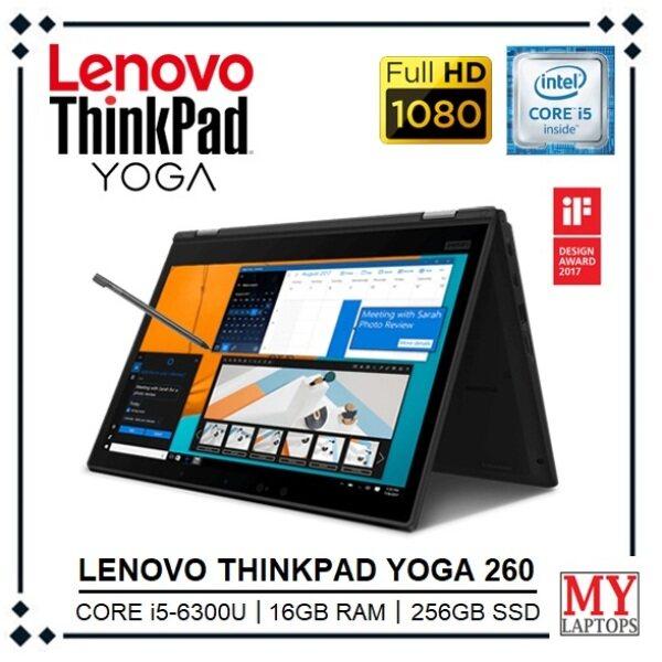 LENOVO THINKPAD YOGA 260 [CORE i5-6300U / 16GB RAM / 256GB SSD] PREMIUM BUSINESS CONVERTIBLE / FULL HD IPS DISPLAY / WINDOWS 10 PRO Malaysia