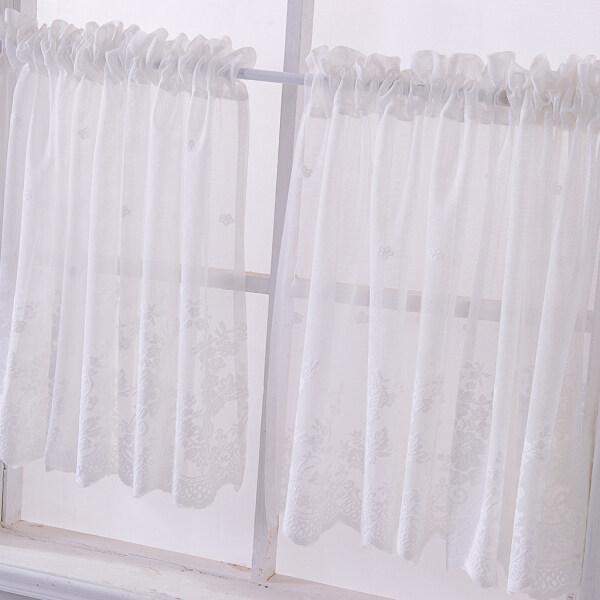 WDClever, Voan Thêu Ren Cửa Sổ, Rèm Viền Mỏng 74*61Cm