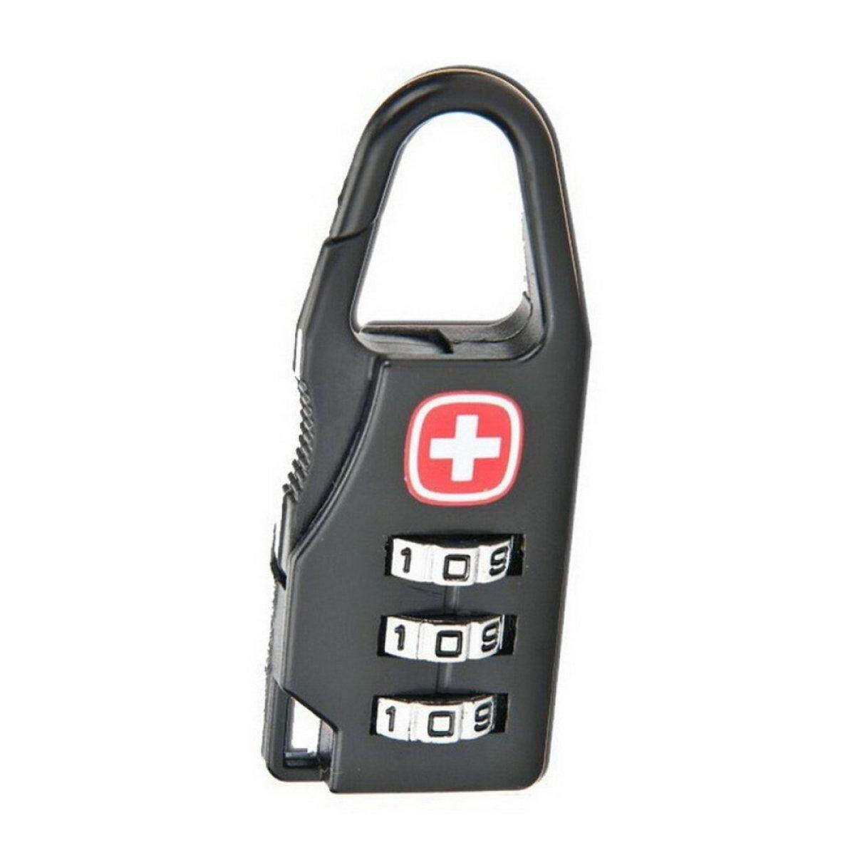 ELENXS Hard Alloy Luggage Security Key Mini 3 Dial Safe Number Code Padlock Combination Lock