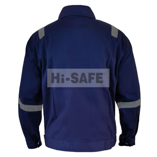Hi-Safe HSF-40-3101-M 100% Cotton Working Jacket Navy Blue with reflective Size: M