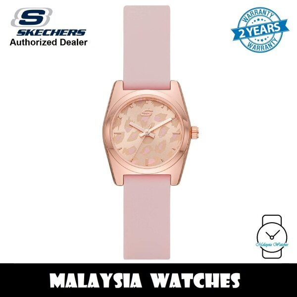 (OFFICIAL WARRANTY) Skechers SR6222 Women Shoup Quartz Rose Gold-Tone Case Pink Silicone Strap Watch (2 Years Warranty) Malaysia