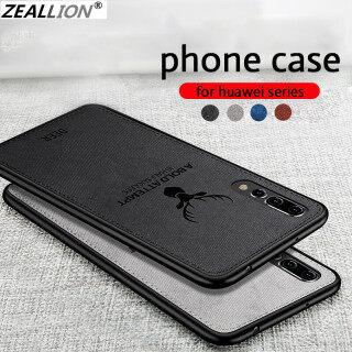 Ốp Zeallion Cho Huawei Nova 3 4 5 5i 6 7 Pro 8 SE 3i P Smart Plus, Ốp Lưng Họa Tiết Nai Sừng Tấm Dệt Mềm Cổ Điển thumbnail
