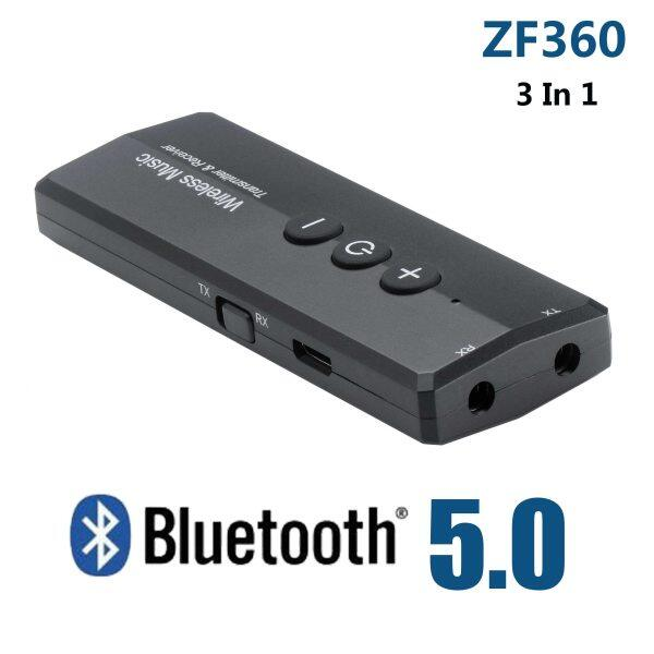 Bluetooth 5.0 Transmitter Receiver 3 in 1 EDR Audio ZF-360 Wireless Adapter Dongle Mini 3.5mm AUX For TV PC Car HIFI Home