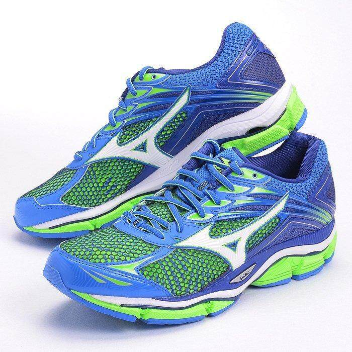 best cheap db2e6 af0b8 Mizuno Wave Enigma 6 VI Green Blue Men Running Shoes Sneakers J1GC161101  US7.5