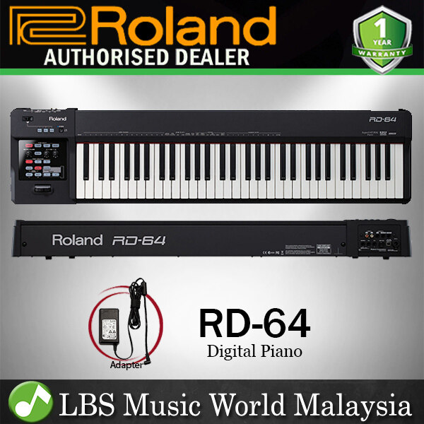 Roland RD-64 64 Key Digital Stage Piano With Ivory Feel-G Keybed (RD64 RD 64) Malaysia
